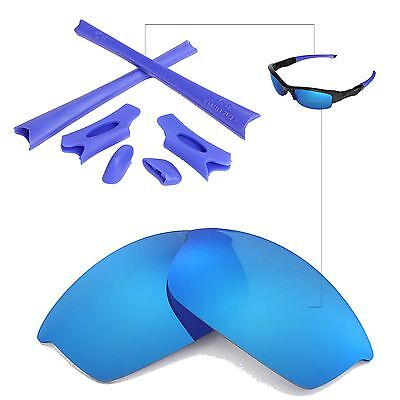 WL Ice Blue Replacement Lenses And Rubber Kit For Oakley Flak Jacket