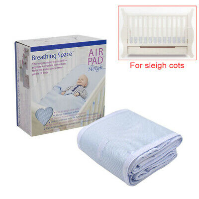 Sweet Dreams Air Pad - Sleigh Cot Bumper Style Mesh Safety Protection - Blue