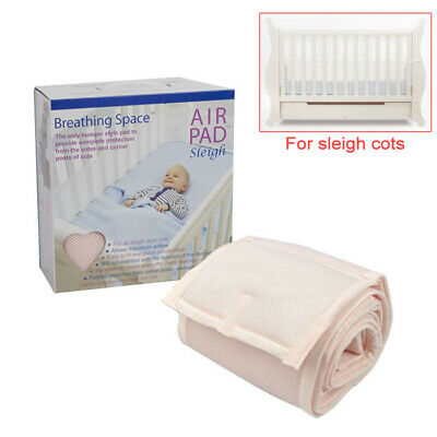 Sweet Dreams Air Pad - Sleigh Cot Bumper Style Mesh Safety Protection - Pink