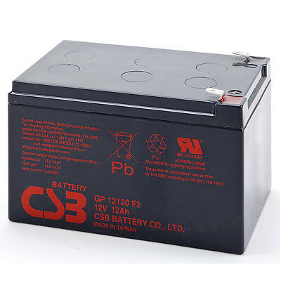 CSB GP 12120 Rechargeable Sealed Lead Acid UPS Battery 12V 12Ah GP12120 SLA