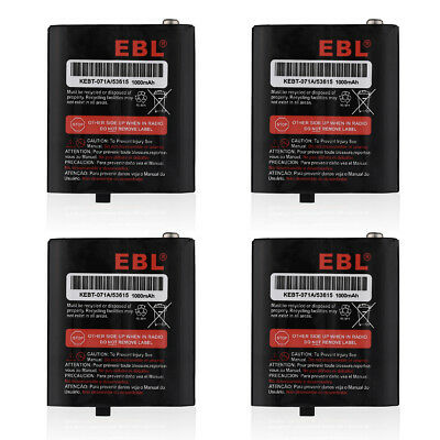 4X Ni-MH Battery For Motorola Talkabout Radio 53615 KEBT-071-D KEBT-071A T5320