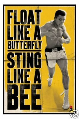 MUHAMMAD ALI POSTER 61x91cm NEW * Float Like Butterfly Sting Bee boxing champion