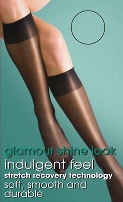 Silky Super Shine Knee Highs, 15 Denier Gloss Knee High Sock