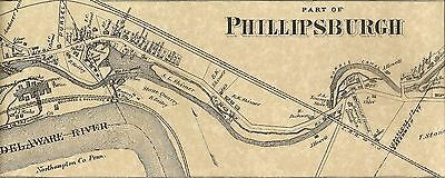 Phillipsburg Lopatcong NJ 1874 Maps with Homeowners Names Shown