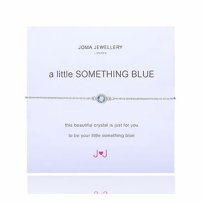 Joma Jewellery a little something blue bracelet gift bag silver plated wedding