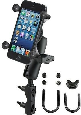 Ram Motorcycle Combination Brake Clutch Res. U Bolt Handlebar Phone Gps Mount