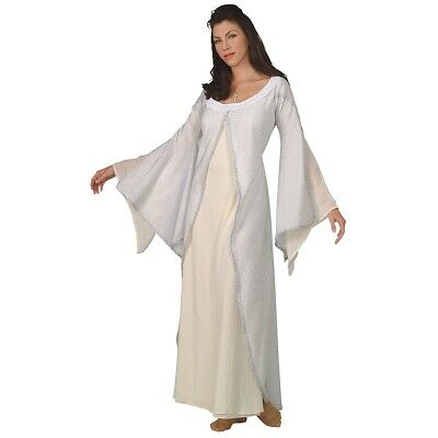 Deluxe Arwen White Dress Costume Lord of the Rings Halloween Fancy Dress