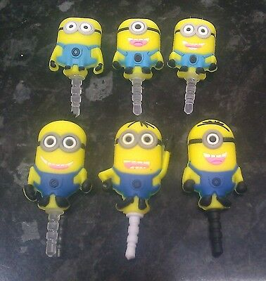 Anti dust plug Dispicable Me Minions for 3.5mm earphone jack mobile phone charm