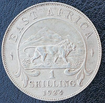 1924 East Africa Shilling KM# 21 gEF Silver Coin George V