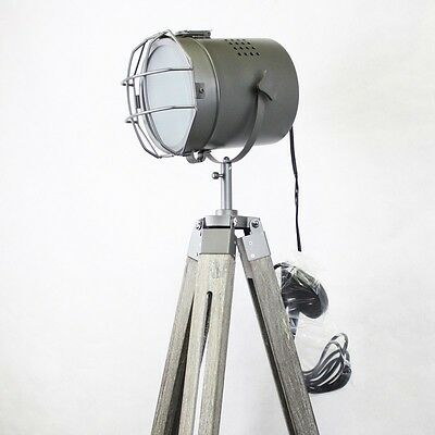 140CM Grey Matt Theater Lamp Tripod Stylish Retro Adjustable Floor Table Light