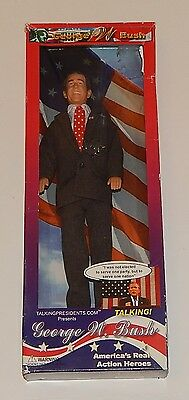 Pres George W Bush Talking Action Figure Doll 2003 Toypresidents LIMITED EDITION