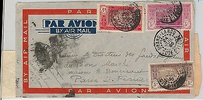 Ivory Coast - Côte d'Ivoire -  POSTAL HISTORY: AIRMAIL COVER to FRANCE 1936