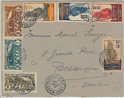 French Colonies: GABON  Moyen Congo -  POSTAL HISTORY - COVER to FRANCE 1936