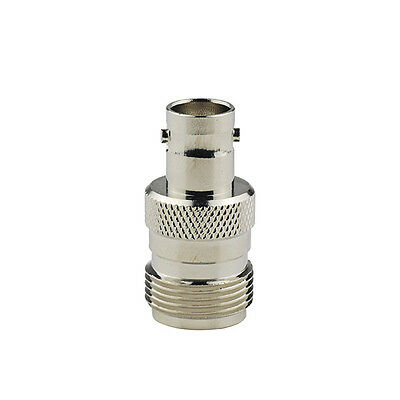 N Type female jack To BNC female jack Straight RF Coaxial connector Adapter New