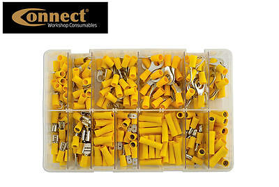 CONNECT 110 YELLOW Assorted Insulated Electrical Terminal Crimp Connector Set