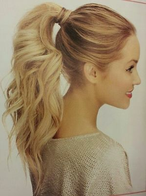 Straight Curly Wavy Wrap Around Ponytail Clip in Hair Extensions Ombre Dip Dyed