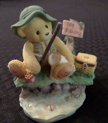 """Cherished Teddies Norm """"patience Is A Fisherman's Virtue"""" 1998 Numbered"""