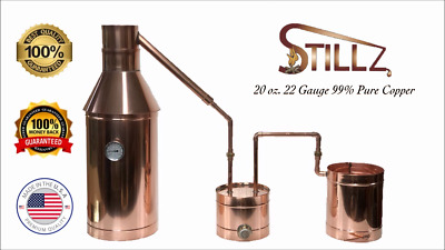 Copper Moonshine Still- Thumper/Worm-Heavy 20oz Build Compare! StillZ 6 Gallon