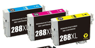 3 Color REMANUFACTURED T288 XL 288 XL Ink  For Expression XP440 XP434 XP446 -330