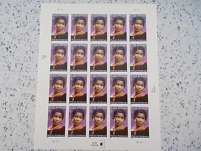 #3896 2004 MARIAN ANDERSON MHN SHEET/PANE 20 37 Cent US Postage Stamps Mint