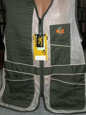 Browning Deluxe Mesh Right-Hand Shooting Vest~XL~OLIVE GREEN/TAN~Pro HuntersVest