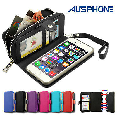 Magnet Zip Wallet Leather Case Cover for Apple iPhone 6S 6 Plus