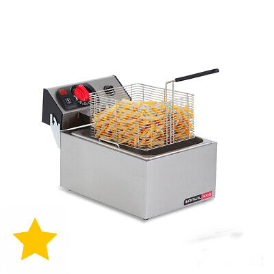 Deep Fryer Electric Single Pan 5 Litre Benchtop Commercial Equipment Chips