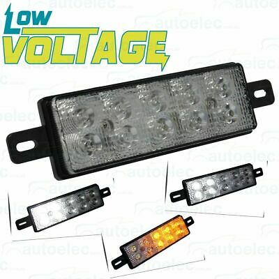 Low Voltage Led Front Indicator Park & Drl Clear Amber Light Lamp Bullbar Lv0378