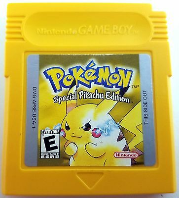 Pokemon Yellow Version Pikachu Game Boy Color Cleaned & Good Save Battery Nice!