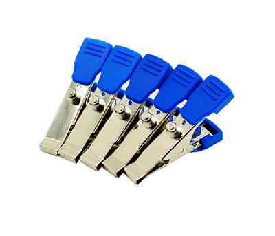 5pcs Veterinary Ekg Ecg Alligator Electrode Clip For Sanp Pinch