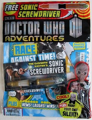 Dr Doctor Who Adventures magazine 4/2013 issue 314 + Sonic Screwdriver & Silent