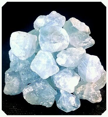 CELESTITE 1/2 lb Rough Mineral Points Piece Natural Sky Blue Crystal Healing
