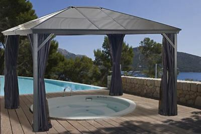 Sojag Verona Hard Top Gazebo 10x12 with Polycarbonate Roof and Mosquito Netting