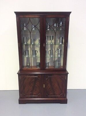Regency Design Flame Mahogany Display Cabinet Bookcase In Bevan & Funnel Manner