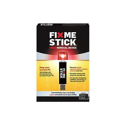 FixMeStick - Virus Removal Device - Unlimited Use on up to 3PCs for 1 Year
