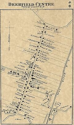 Deerfield Greenfield South Deerfield MA 1871 Maps with Homeowners Names Shown