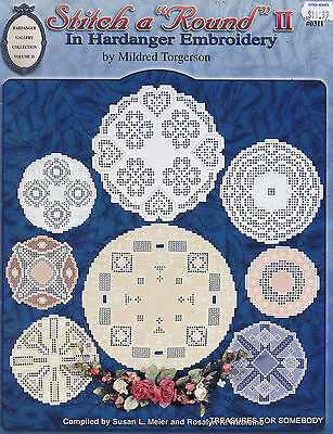 """Stitch a """"Round"""" II in Hardanger Embroidery Pattern Book Beautiful Designs"""