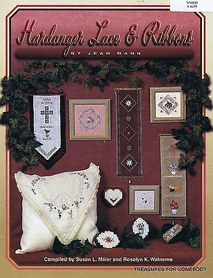 Hardanger Lace & Ribbons Embroidery Pattern Book by Jean Mann BEAUTIFUL!
