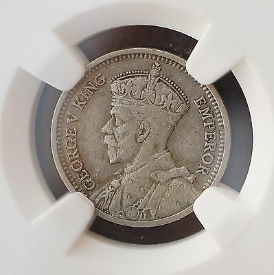 1935 New Zealand Threepence KM# 1  Silver Coin NGC VF35  RARE KEY DATE