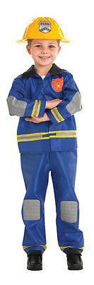 Childrens Fireman Fancy Dress Costume Fireman Sam Outfit 3-4 Yrs