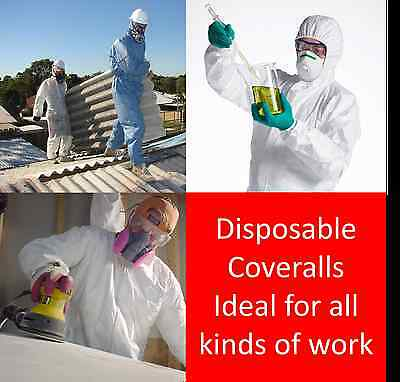Cat 3 Disposable Coveralls Type 5/6 in White,Blue or Red Quantity 50