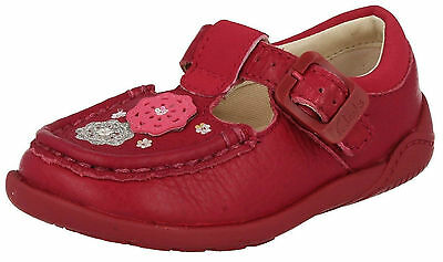 Sale Litzy Suzy Fst Clarks Girls Buckle Berry Leather T Bar First Walking Shoes