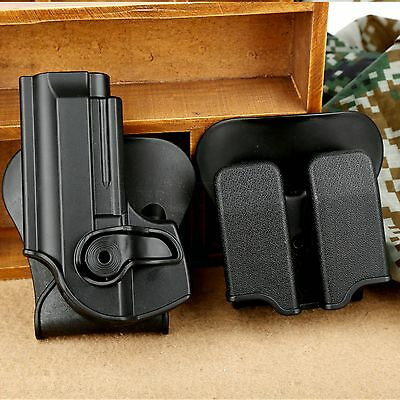 Tactical Combo Roto Belt Holster Double Paddle Magazine Pouch for Beretta 92 96