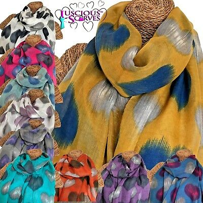 Ladies scarf with Faded Hearts Heart design superb quality in 8 colours