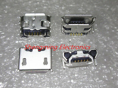 5pcs Micro USB mini 5Pins Data Sync Charge Charger Charging Port Connector Jack