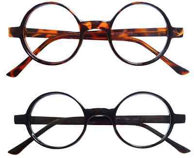 dce294a9b4d Vintage Inspired 50s style Round Circle Clear Lens Glasses Eyeglasses