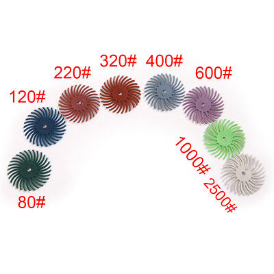 25mm Radial Bristle Discs 80-2500 Grit For Polishing Cleaning Fishing Deburring
