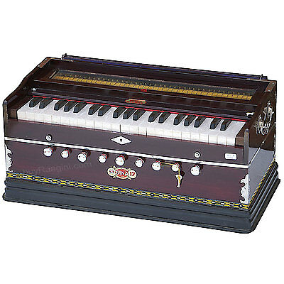 Harmonium Bina No.17 B Delux|Coupler Function|Rosewood Color|42 Key|Indian|Aig-2
