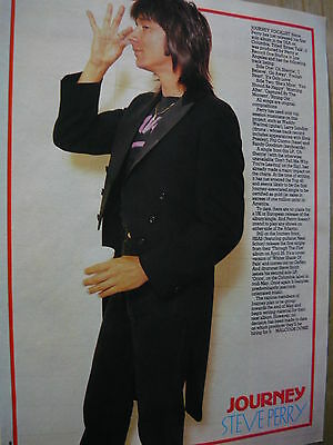 Journey (Steve Perry) - Magazine Cutting (Full Page Photo W/text) (Ref N2)