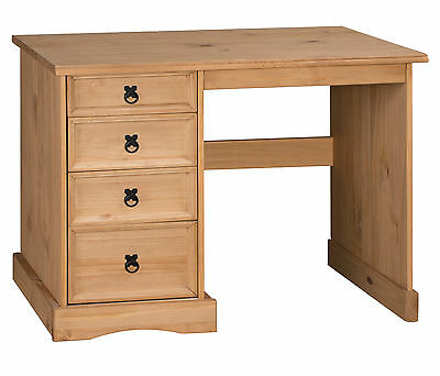 Corona Dressing Table Desk 4 Drawer Dresser Solid Pine by Mercers Furniture®